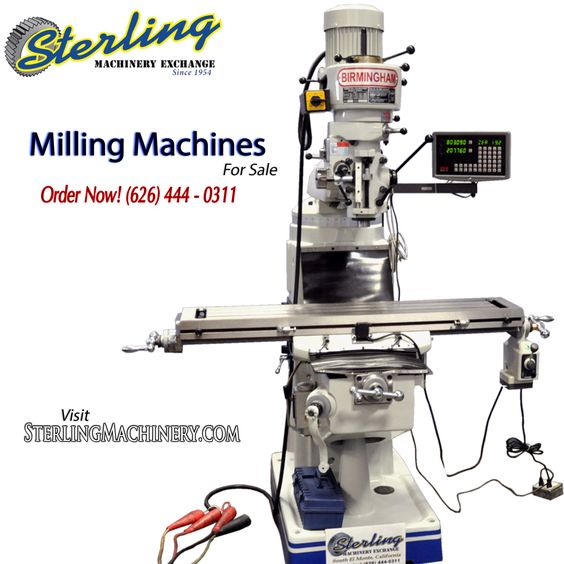Milling Machines for Sale. SterlingMachinery.com #SterlingMachinery #machine #machines #machinery #machinist #mills #millingmachine #mill #newmachinery #usedmachinery #industry #industrial #inventory #fabricate #fabrication #bridgeport #acra #birmingham #shears #pressbrakes #lathes #atrump #gears #grinders #saws #platerolls #buy #sell #trade #drills