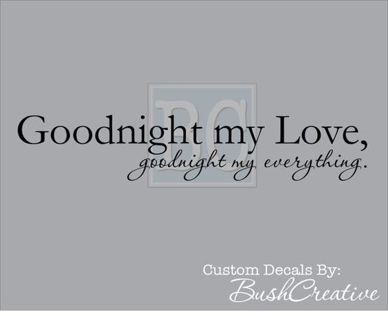 Wall Decals Goodnight my Love Goodnight my by bushcreative on Etsy