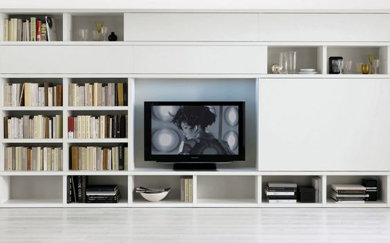 Sectional lacquered TV wall system Pari&Dispari - COMP 335 ...