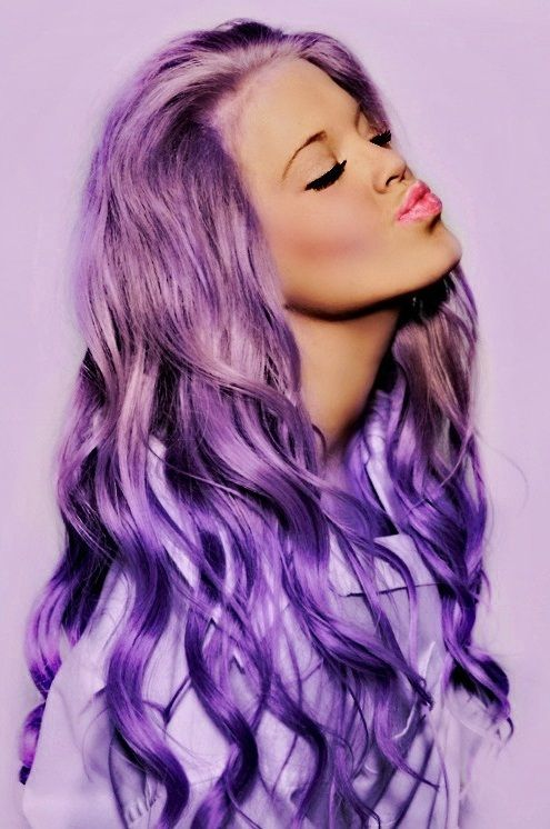 Olive Skin Purple Hair And Hair Color On Pinterest