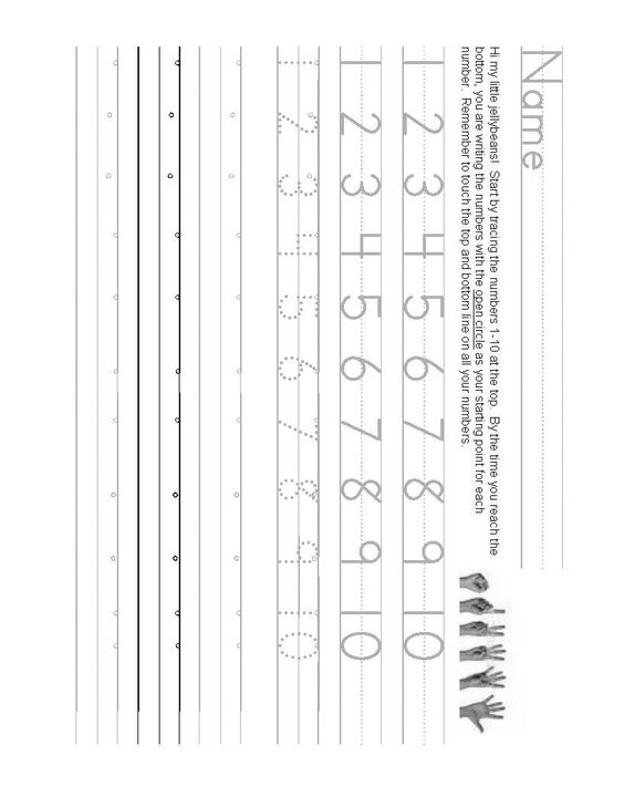 Number writing worksheet teaching