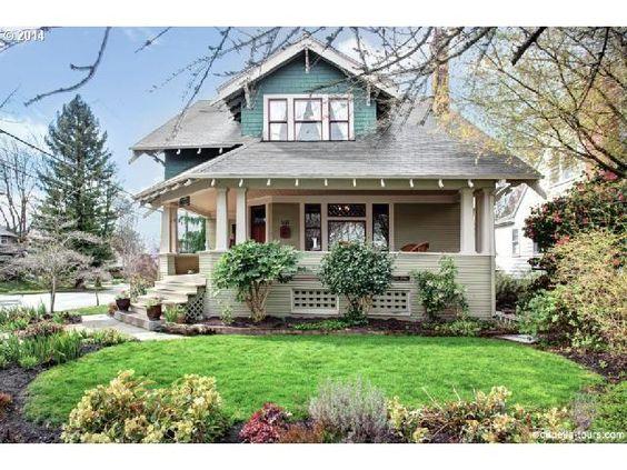 Portland on pinterest for Portland craftsman homes