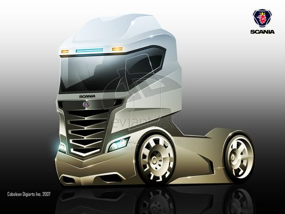 Futuristic Truck, Future Vehicle, Scania Concept Truck by ~hafisidris on…