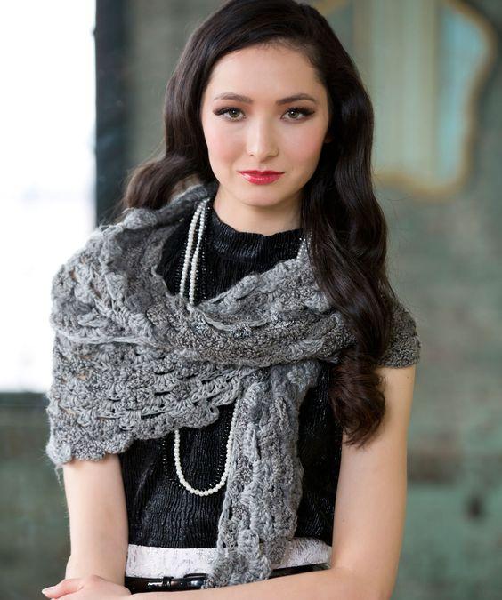Shades of Grey Scarf Crochet Pattern | Red Heart | Crochet ...