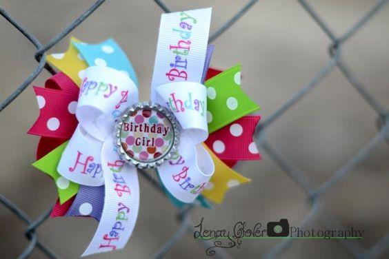 Birthday hair bow