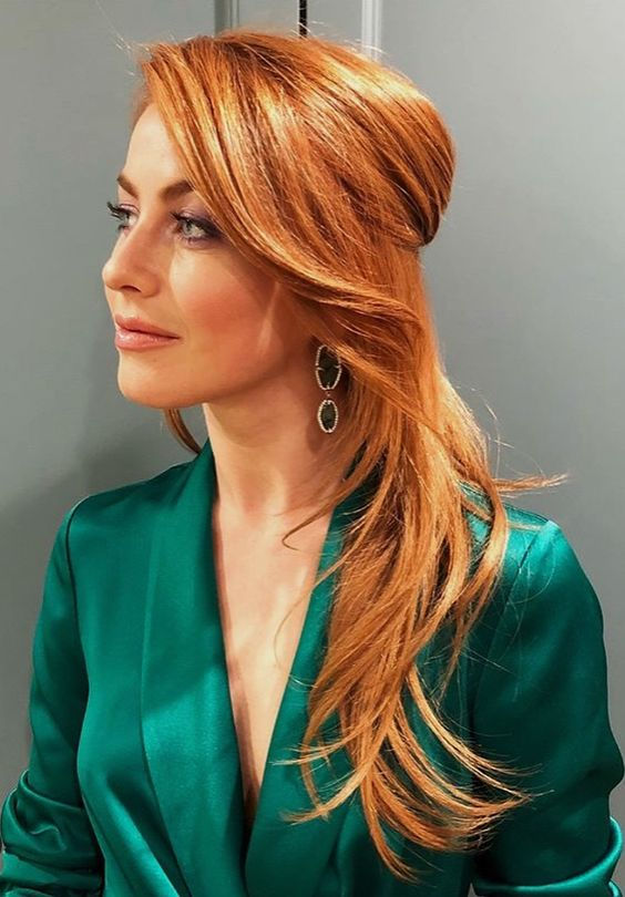13 Red Hairstyles On Fire This Fall | Half-Up Red Hairstyle | Hairstyleonpoint.com