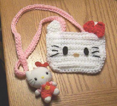 Free Crochet Pattern Hello Kitty Bag : Hello Kitty Purse Crochet Pattern Free Crochet Girl ...