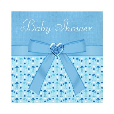 Cute blue flamingo boy Baby Shower invites with an adorable blue Wonderland flamingos design, digital blue bow and ribbon and a beautiful blue jewel heart. $1.90 Easy to customize. Beautifully decorated both sides. Good volume discounts.
