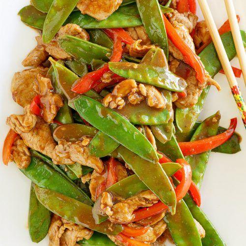 Hoisin Pork Stir Fry Recipe Pork Stir Fry Pork Stir Fry Recipes Asian Vegetables