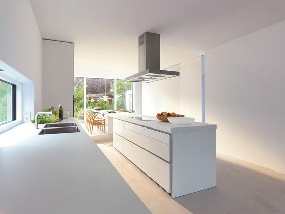Zeilen  einbauküche küche mit kücheninsel kollektion b1 by ...
