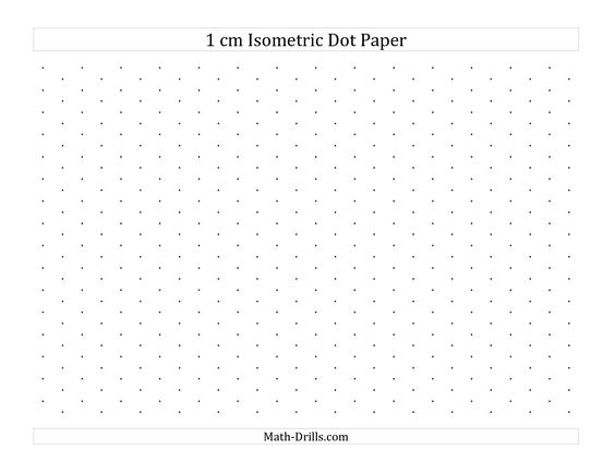 The  Cm Isometric Dot Paper Landscape A Math Worksheet From