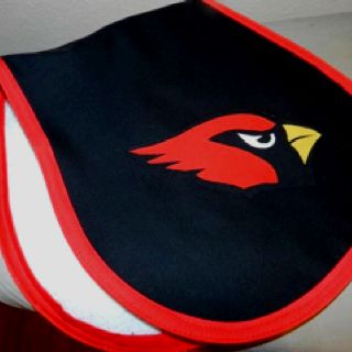 Cardinal Inspired Baby Burp cloth I made today! :)