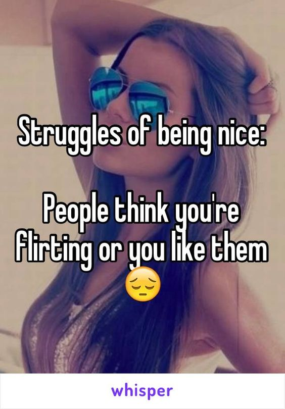 flirting or being nice