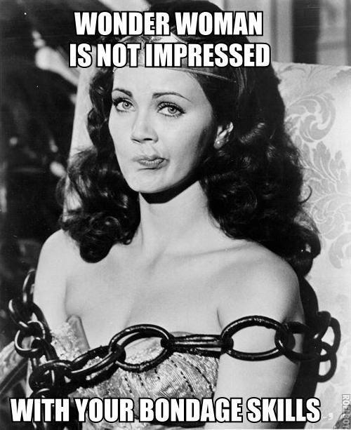 Wonder Woman Not Impressed