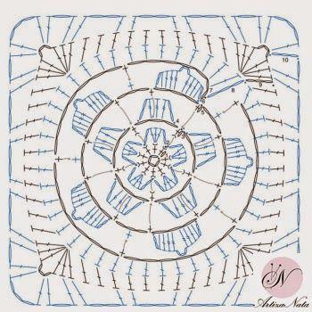 ArtizaNata: Схема квадратного мотива крючком №6