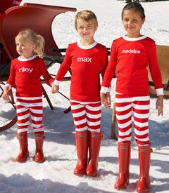 I need to get my kids some matching PJ's for the holidays... these are just too cute!