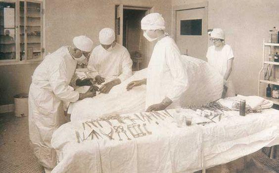 Swedish American Hospital, Rockford, Illinois, 1920's.