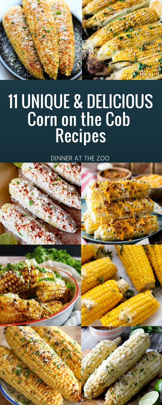 11 Delicious & Unique Corn on the Cob Recipes that are easy, fun to make, and fun to eat!