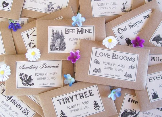 Seeds, s'mores, succulents, soap, jam... So many ways to make guests happy with a special lil thank you!