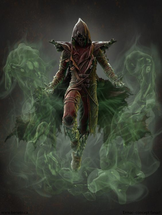 Beneto's new artwork - This is a fan art piece of Mortal Kombat's Ermac