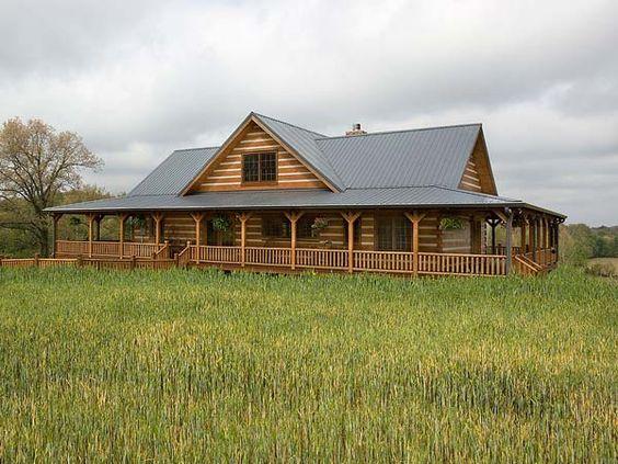 Exterior log home honest abe log homes house plans for Hunting lodge house plans