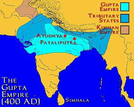 The indian sub continent was the home of the gupta dynasty
