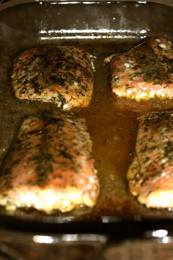 Baked Lemon Dill Salmon – Haiyens Kitchen