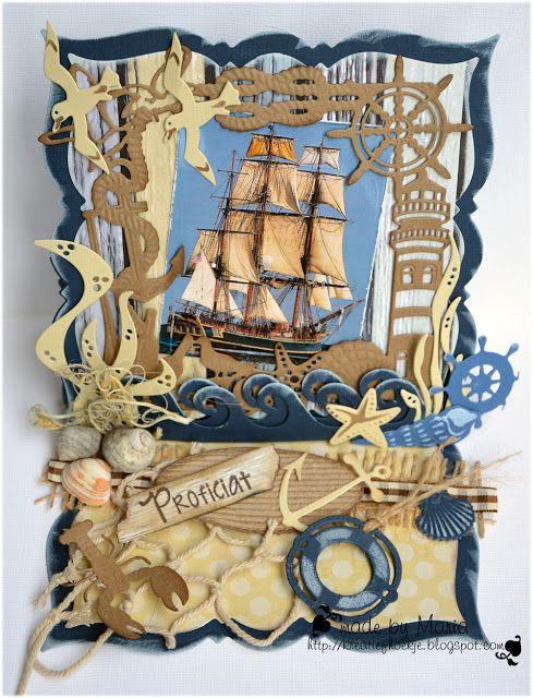 Kreatief Met Maria Maritiem Kaarten Maken Kaarten Nautische Kaarten