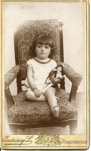 Cabinet Card Child with doll | Flickr - Photo Sharing!