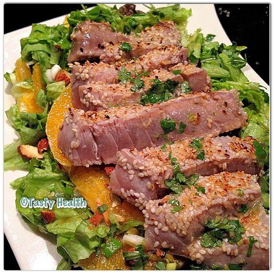 Asian tuna salad #tastyhealth