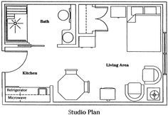 12x24 studio apartment floor plan google search my for 12x24 tiny house plans