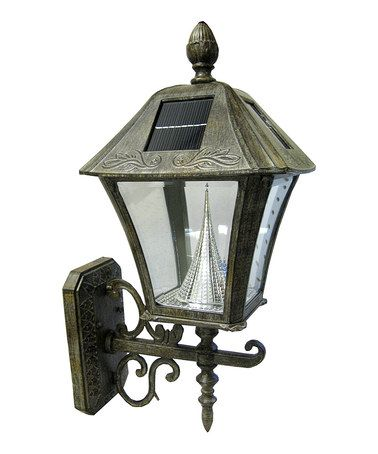 GAMA SONIC Bronze Baytown Wall Mount Solar Light Wall mount, Solar and Lights