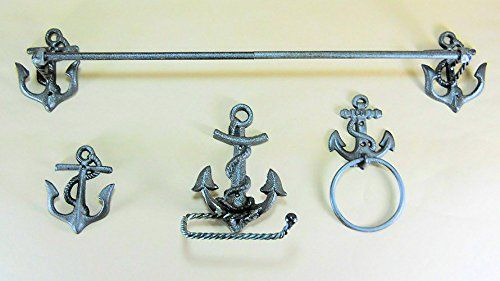 Nautical Anchor Bathroom Accessory Set By Coi Read More At The Image Link It Is Amazon Affili Cast Iron Decor Bath Accessories Set Bathroom Accessory Set