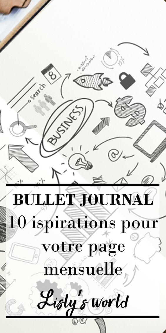 10 idées de page mensuelle pour votre Bullet Journal