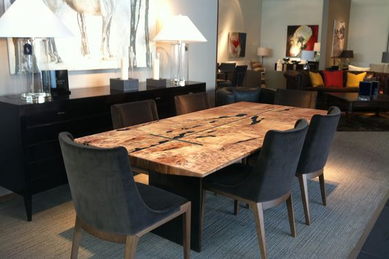 Custom West Coast dining table by Live Edge Design