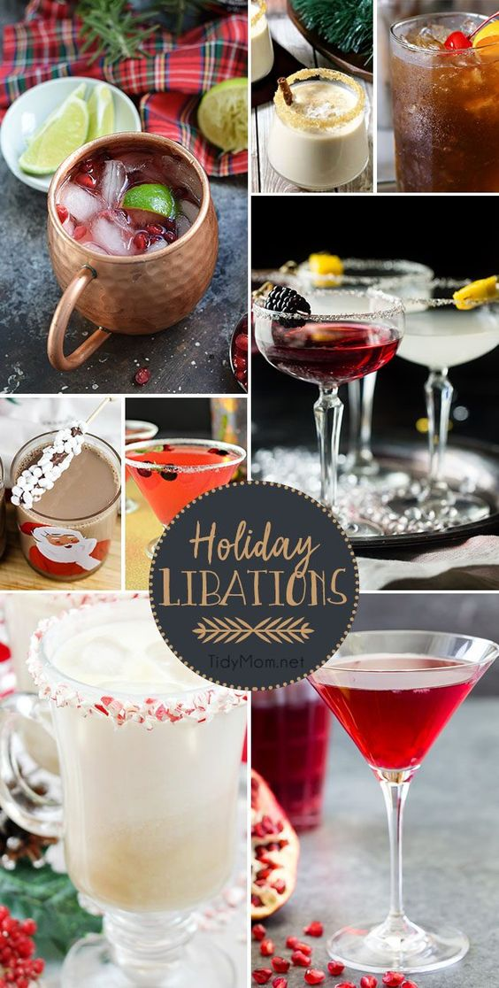 Holiday Libations - cocktail recipes that are perfect for entertaining during the holidays at TidyMom.net