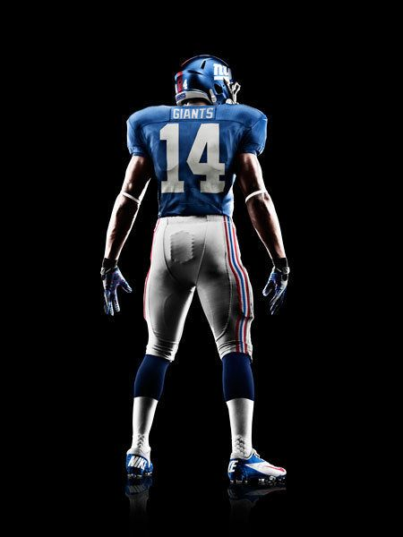 New NFL Uniforms: NY #Giants--thumbs up.