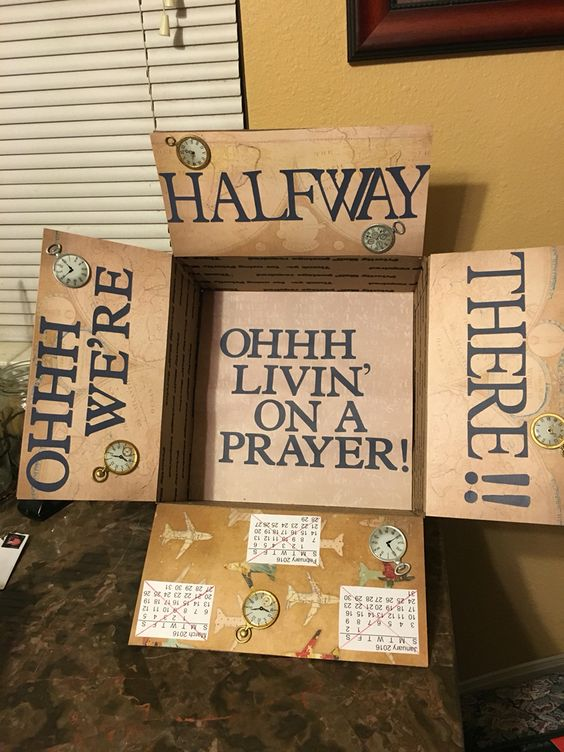 My missionary son's hump day package!