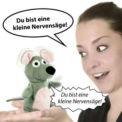 Sprechende Plüsch Maus via: www.monsterzeug.de