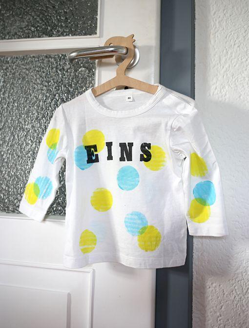 Shirt bedrucken // DIY // Erster Geburtstag // First Birthday-Shirt // Ein Stück vom Glück