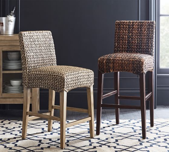 Seagrass Backless Bar Amp Counter Stools Seagrass Dining Chairs Counter Stools Woven Bar Stools