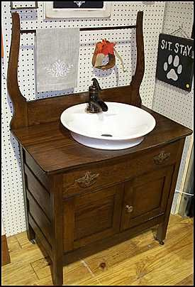 antique wash stand - vanity for powder room