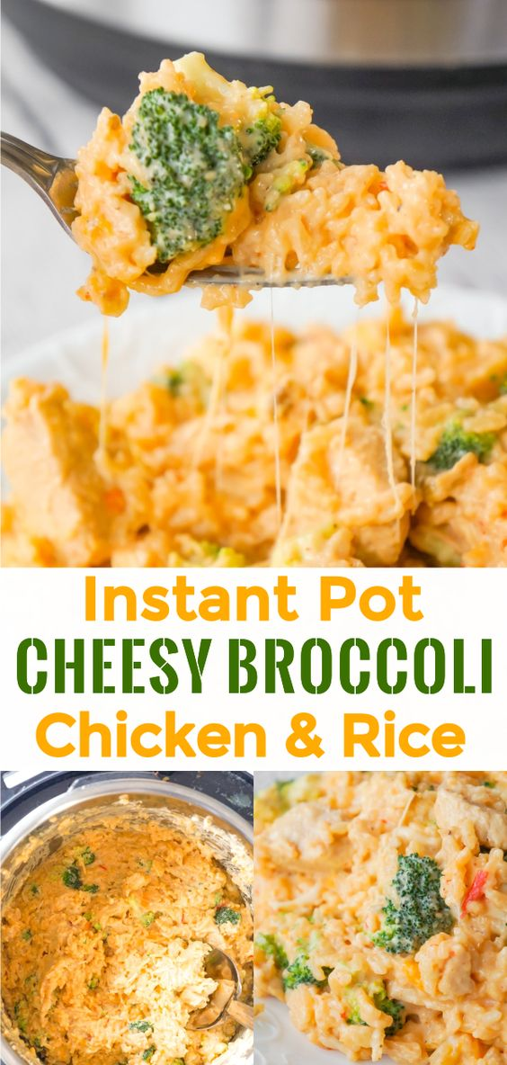 Instant Pot Cheesy Broccoli Chicken and Rice