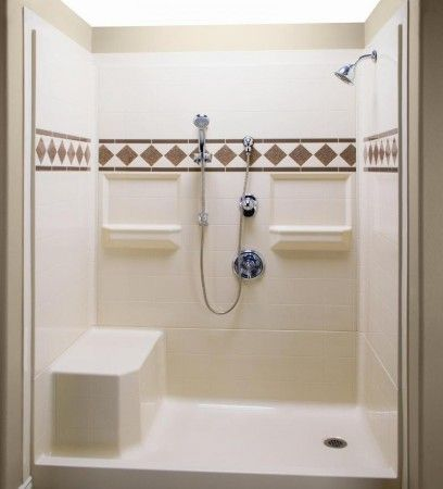 Shower Stall Kits Corner Tub And Bathroom On Pinterest