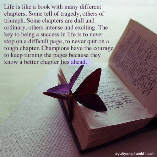 Life is like a book... -
