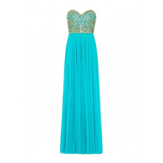 ARETHA Jade Green Strapless Maxi Dress ($475) ❤ liked on Polyvore featuring dresses, white beaded dress, white cocktail dresses, embellished maxi dress, white dress and beaded maxi dress