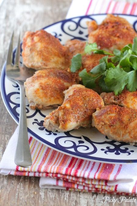 Southwest Buttermilk Baked Chicken Thighs - Picky Palate