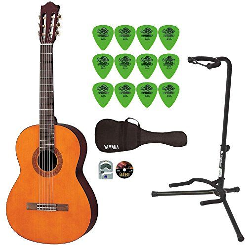Yamaha C40 Gigmaker Classic Guitar Bundle With Padded Bagdigital Tunerstandpicks And Starter Dvd Check This Awesome Pro Classic Guitar Guitar Yamaha Guitar