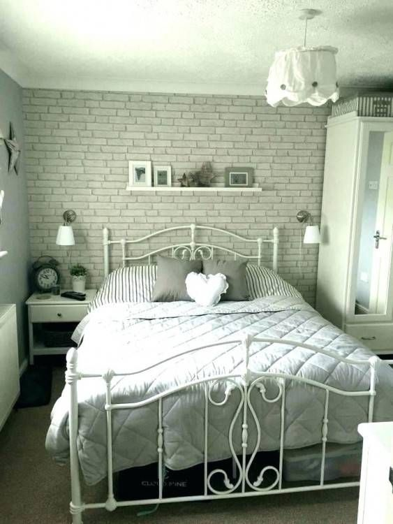 Grey And Pink Bedroom Ideas Blush Bedroom Rose Gold Bedroom Blush In White And Pink Be White Brick Wallpaper Bedroom Brick Wallpaper Bedroom Brick Wall Bedroom