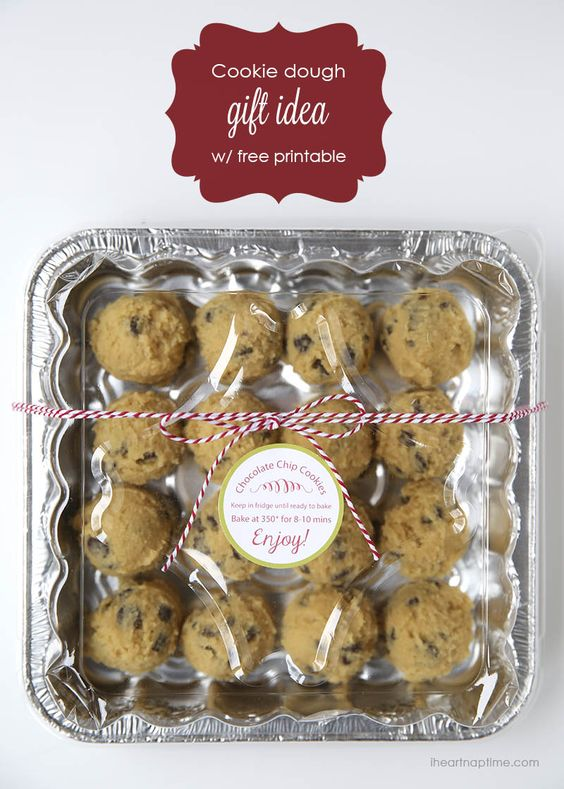 Cookie dough gift idea with free printable tag ...love it!